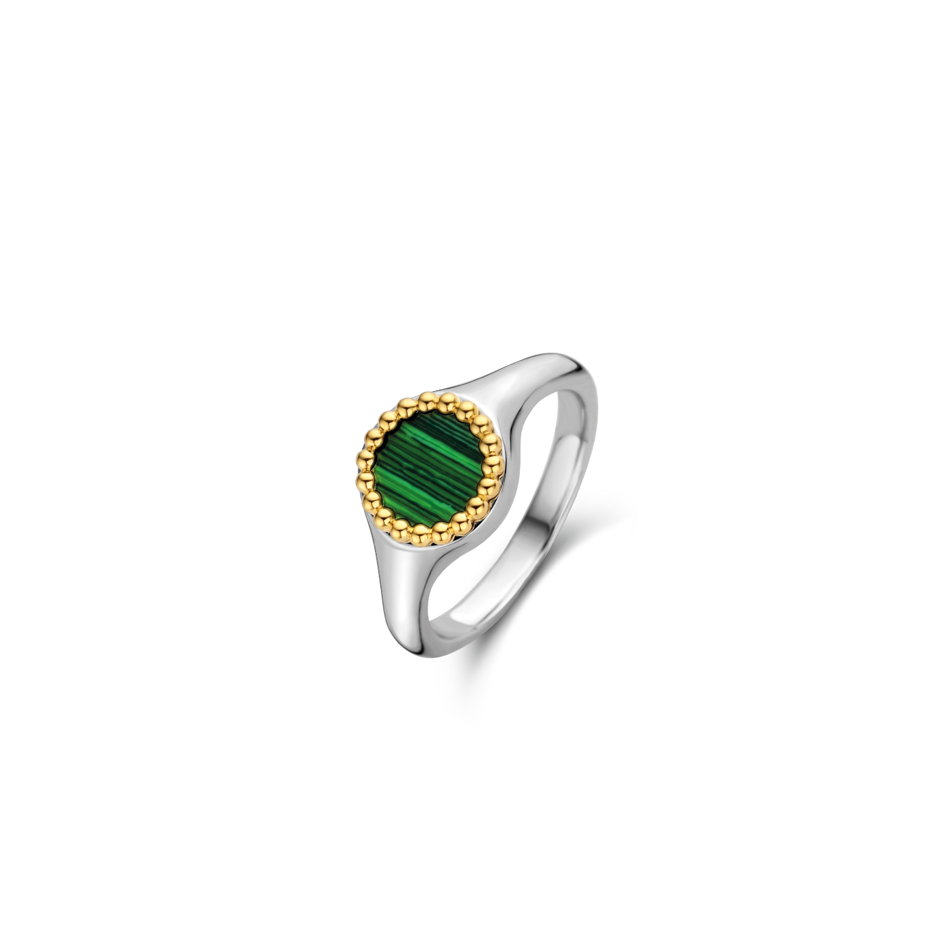 TI SENTO Milano Ring 12207MA Zilver gold plated Maat 58