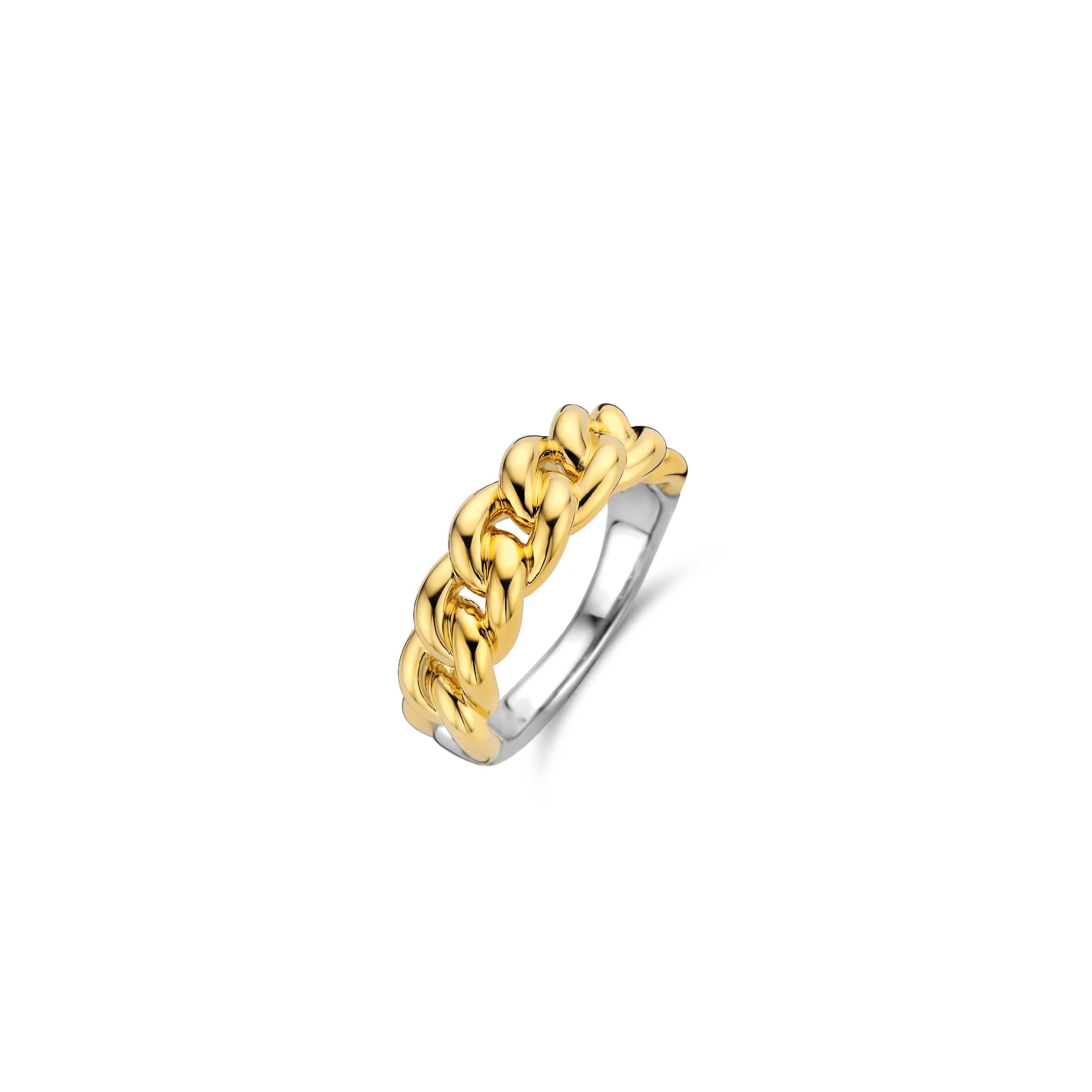 TI SENTO Milano Ring 12209SY Zilver gold plated Maat 54