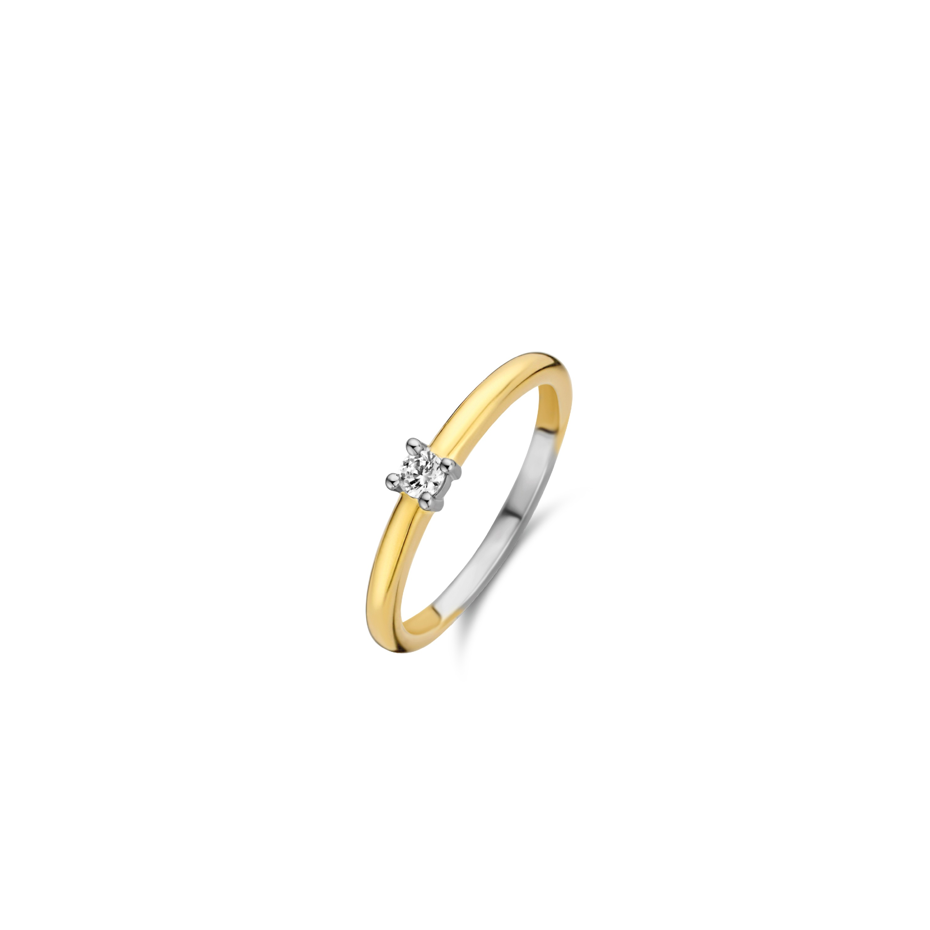 TI SENTO Milano Ring 12211ZY Zilver gold plated Maat 56