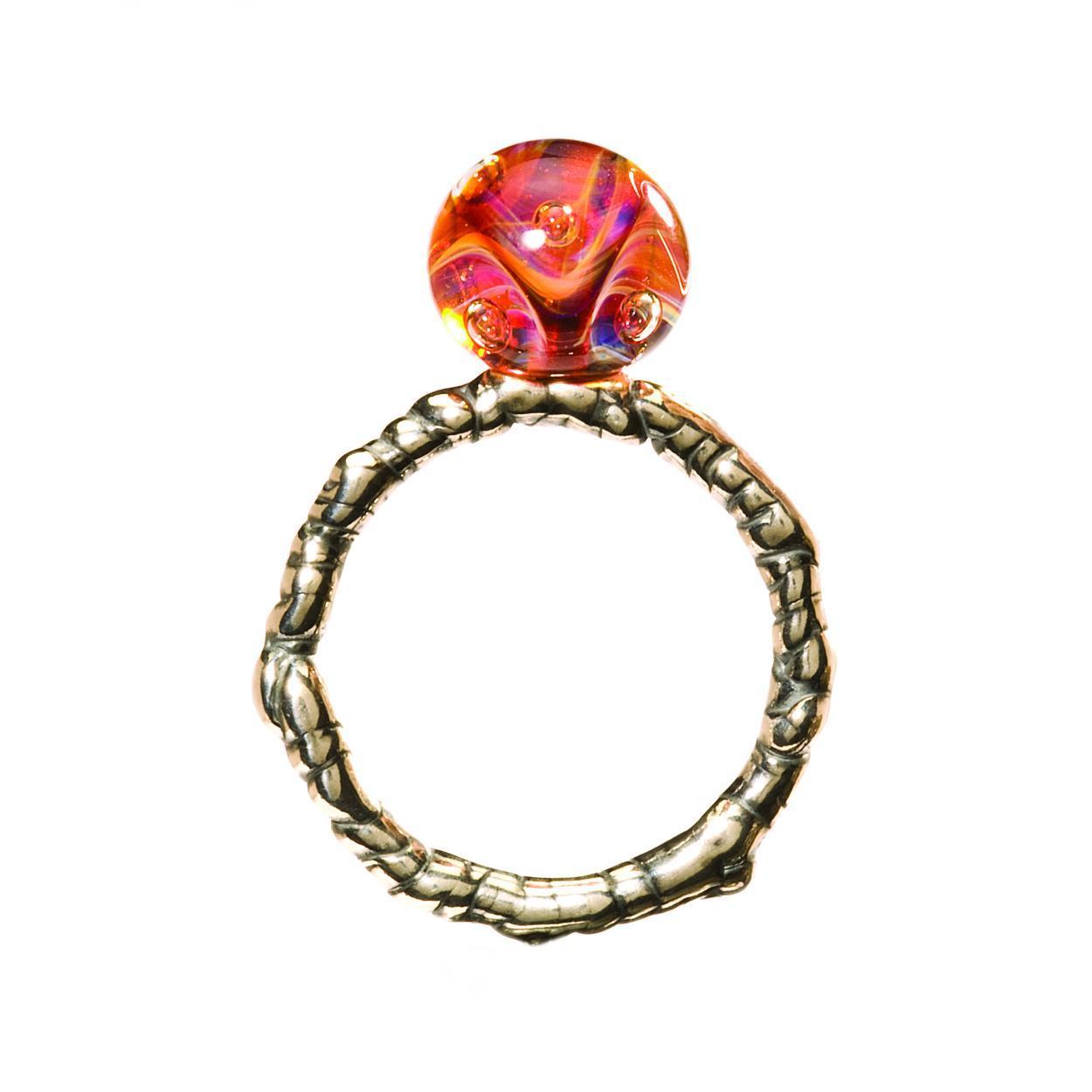 Trollbeads TAGRI 00244 Ring Aphrodite zilver glas Maat 54