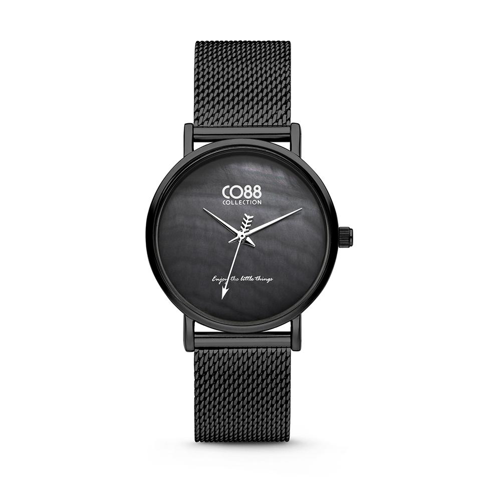 CO88 Collection 8CW-10053 - Horloge - mesh - zwart - o 32 mm