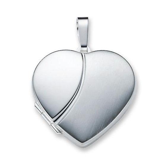 Zilveren Medaillon 'Hart' mat/glanzend 29 mm 145.0065.00