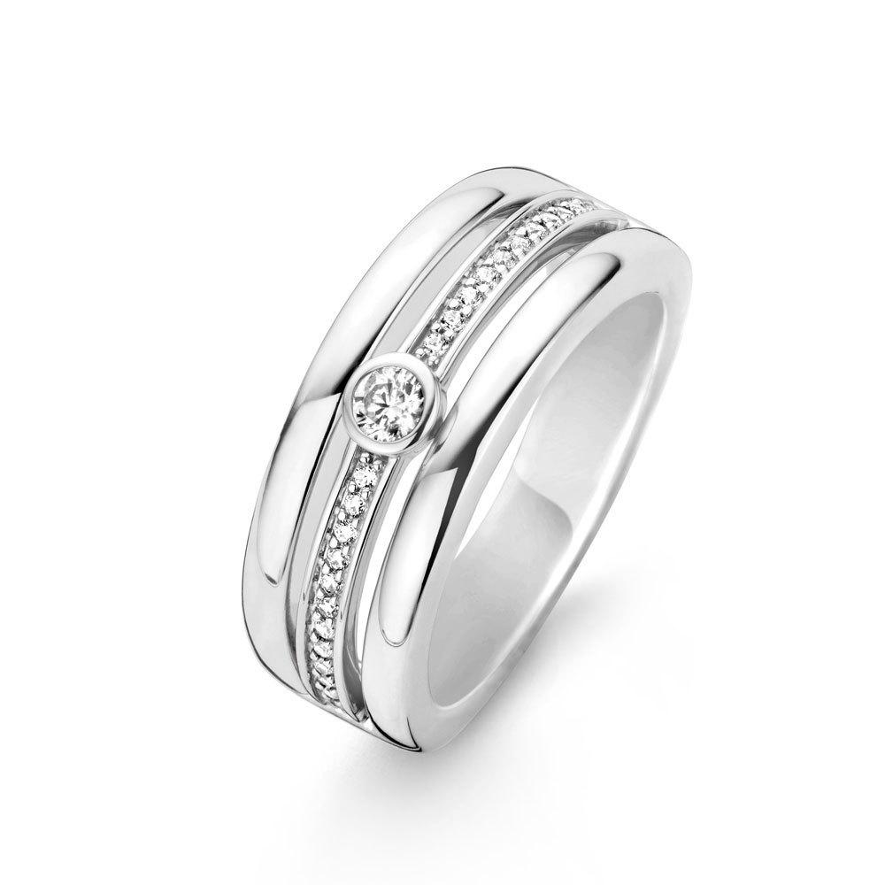 Ti Sento Milano 12094ZI Ring zilver zirconia Maat 60