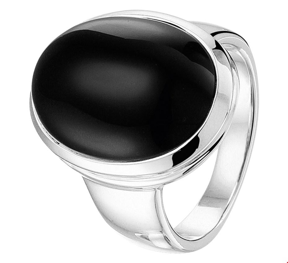 TFT Ring Onyx Zilver Gerhodineerd maat 19