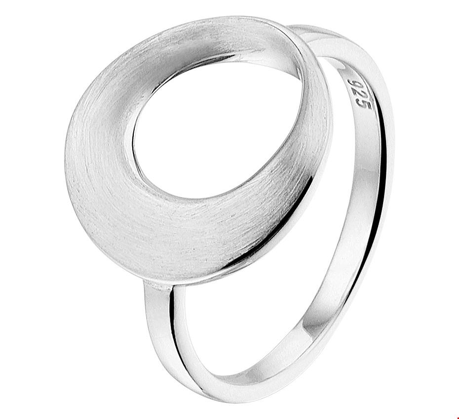 TFT Ring Rondje Poli/mat Zilver Gerhodineerd