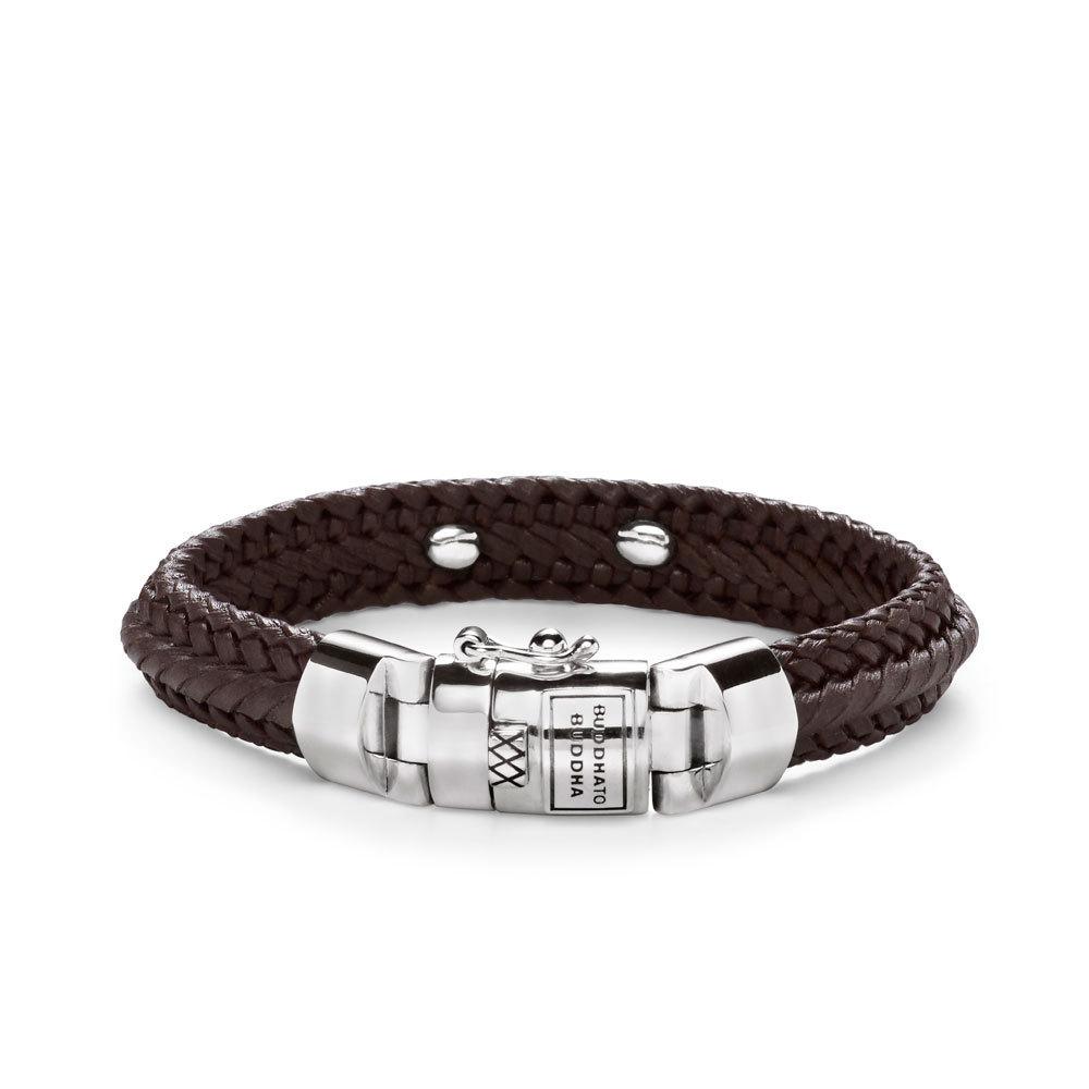 Buddha to Buddha 816BR Armband Nurul Small Leather Brown (F) 21 cm
