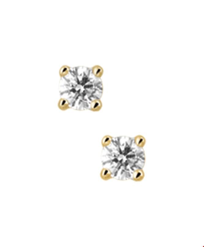 TFT Oorknoppen Diamant 0.30 Ct. Geelgoud Glanzend