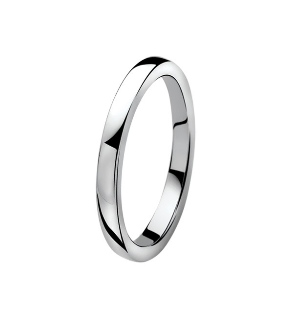 Zinzi ZIR828 Ring zilver glad 2 mm Maat 52