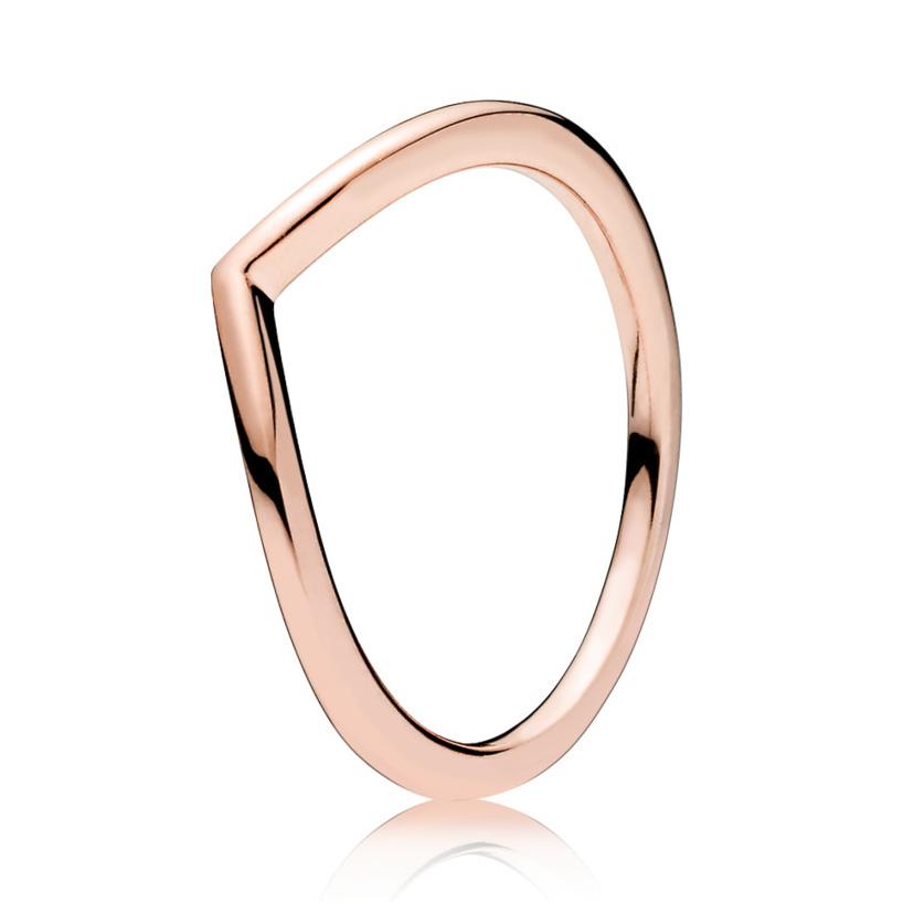 Pandora 186314 Ring Shining Wish zilver rosekleurig Maat 52