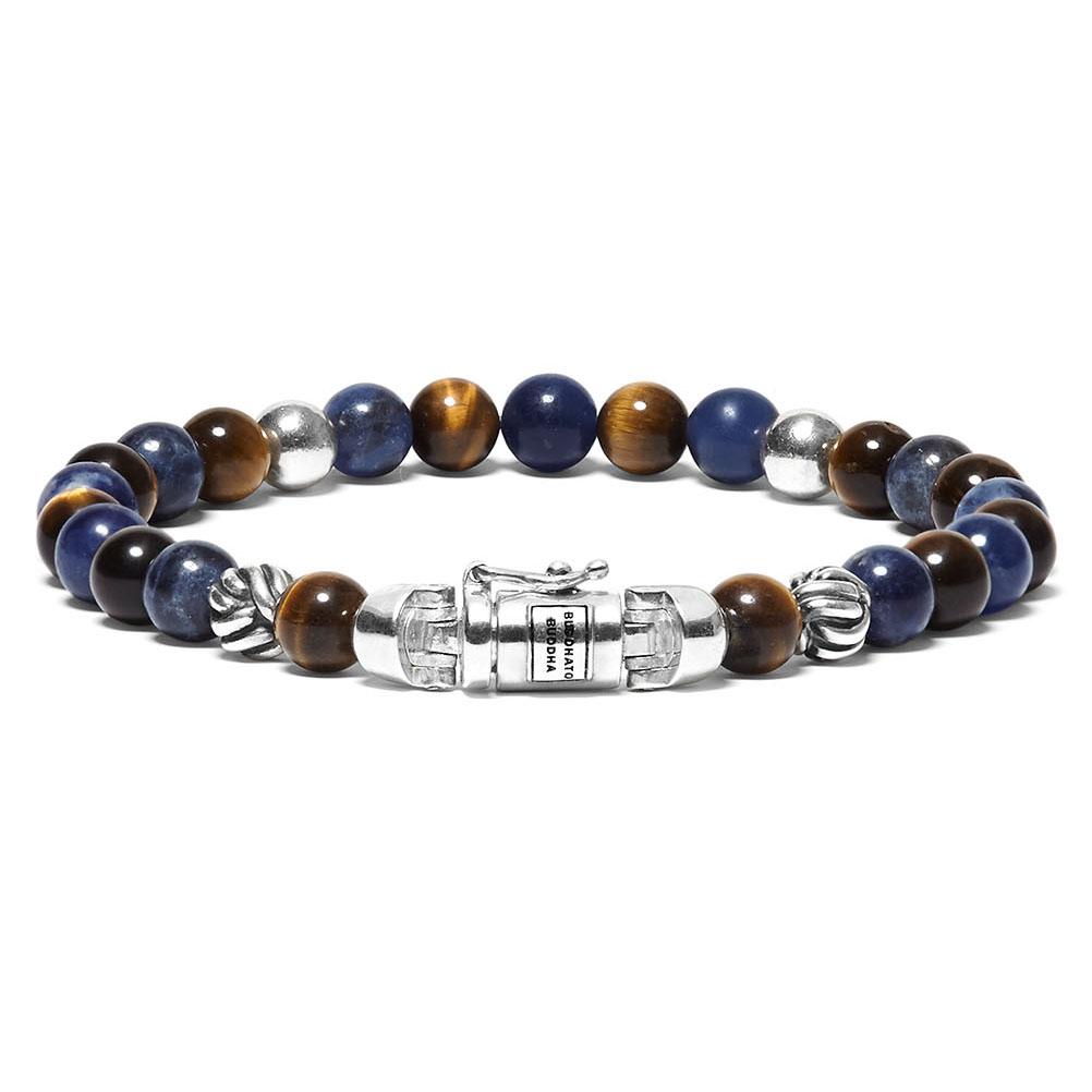 Buddha to Buddha 189MS Armband Spirit Bead Mini Mix Sodalite Tigereye (D) 18 cm