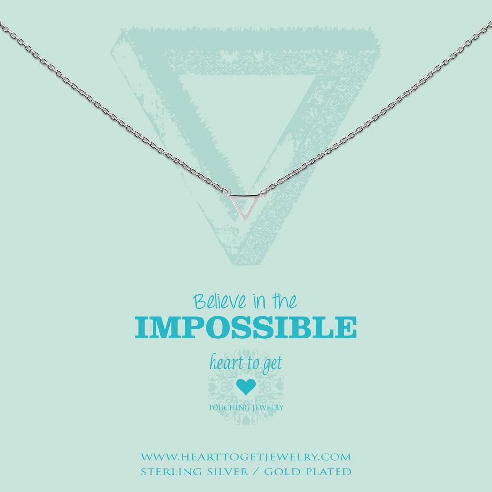 Heart to get N248STR15S Ketting Believe in the impossible zilver