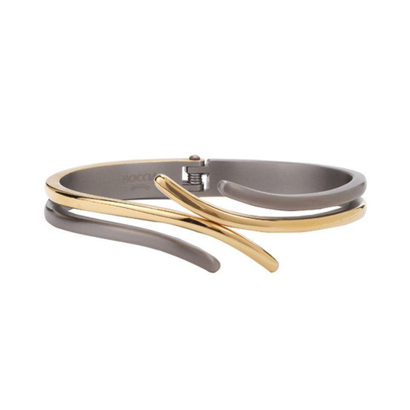 Boccia Titanium 0396 03 Armband Bangle Titanium zilver en goudkleurig