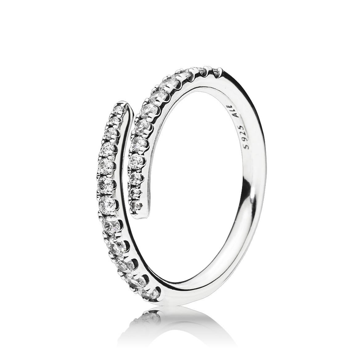Pandora 196353CZ ring zilver met zirkonia maat 52