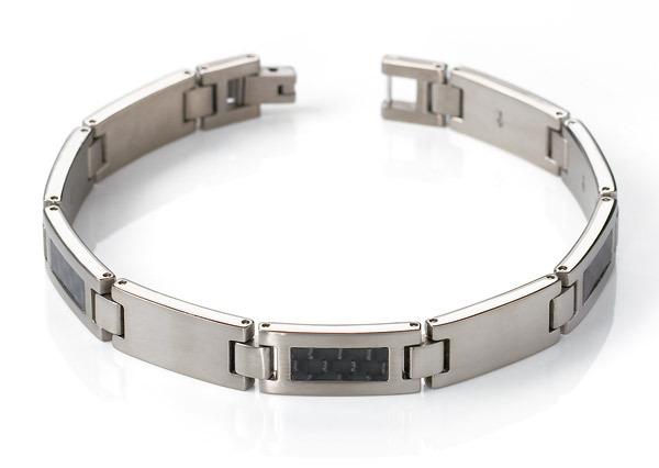 Boccia 0333-01 titanium armband met carbon inleg