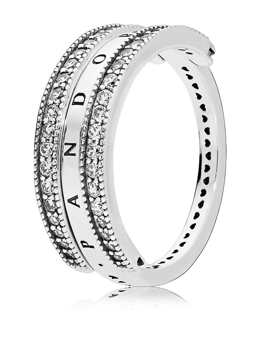 Pandora Flipping Hearts ring van zilver met zirkonia 197404CZ