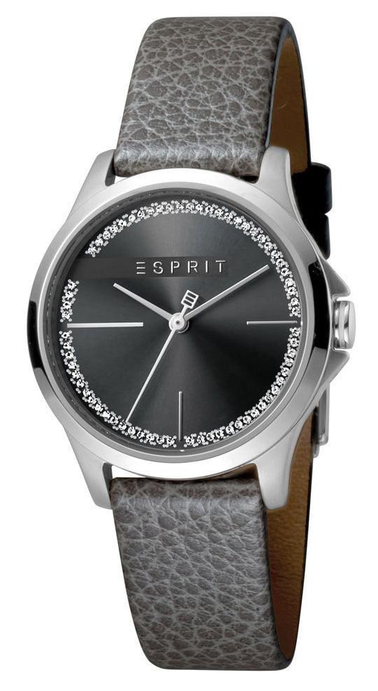 Esprit Horloge Joy Black staal/leder 32 mm ES1L028L0025