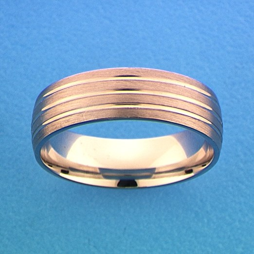 TFT Ring A107 - 6 Mm - Zonder Cz Zilver Gerhodineerd