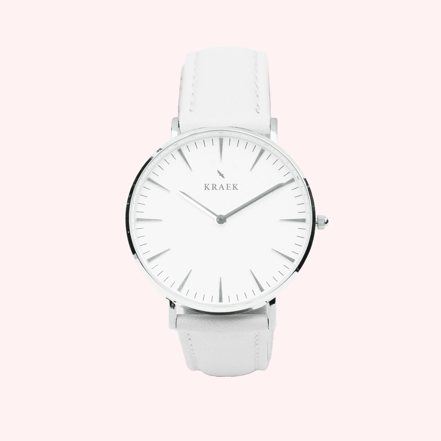 KRAEK Starling | Silver | White 36 mm Dameshorloge