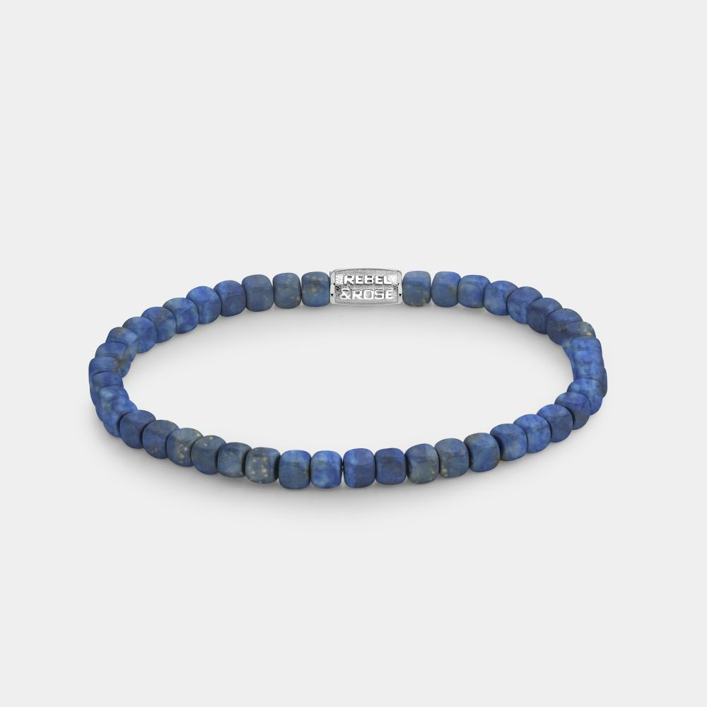 Rebel and Rose RR 40078 S Armband Roll The Dices Lapis Lazuli 4 mm L 19 cm