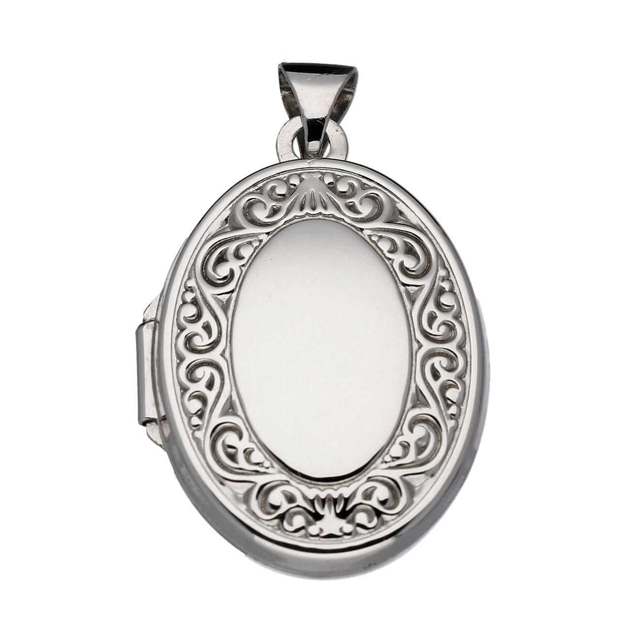 Best Basics 145.0091.00 Hanger Medaillon Barok zilver 20 x 15 mm