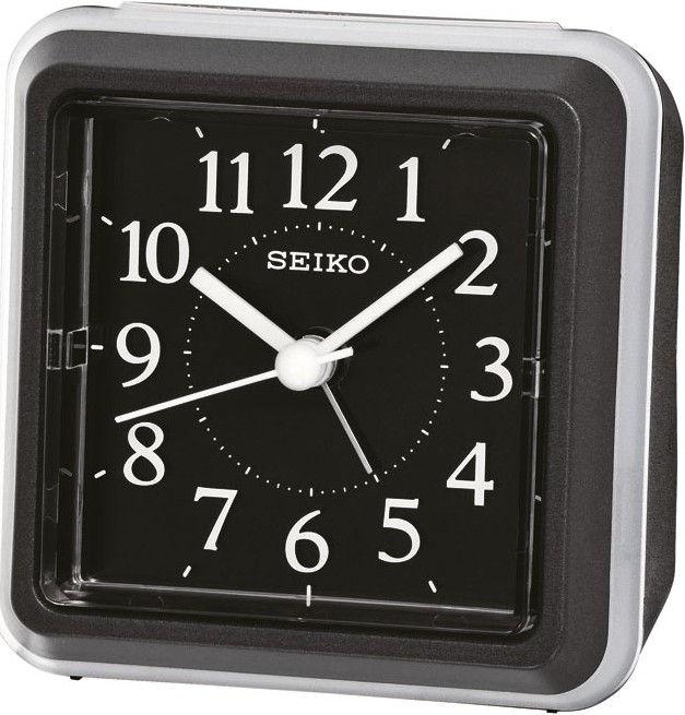 Seiko Reiswekker Zwart QHE090K