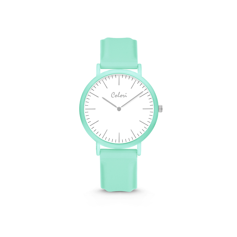 Colori Essentials 5 COL596 Horloge - Siliconen Band - Ø 30 mm - Groen