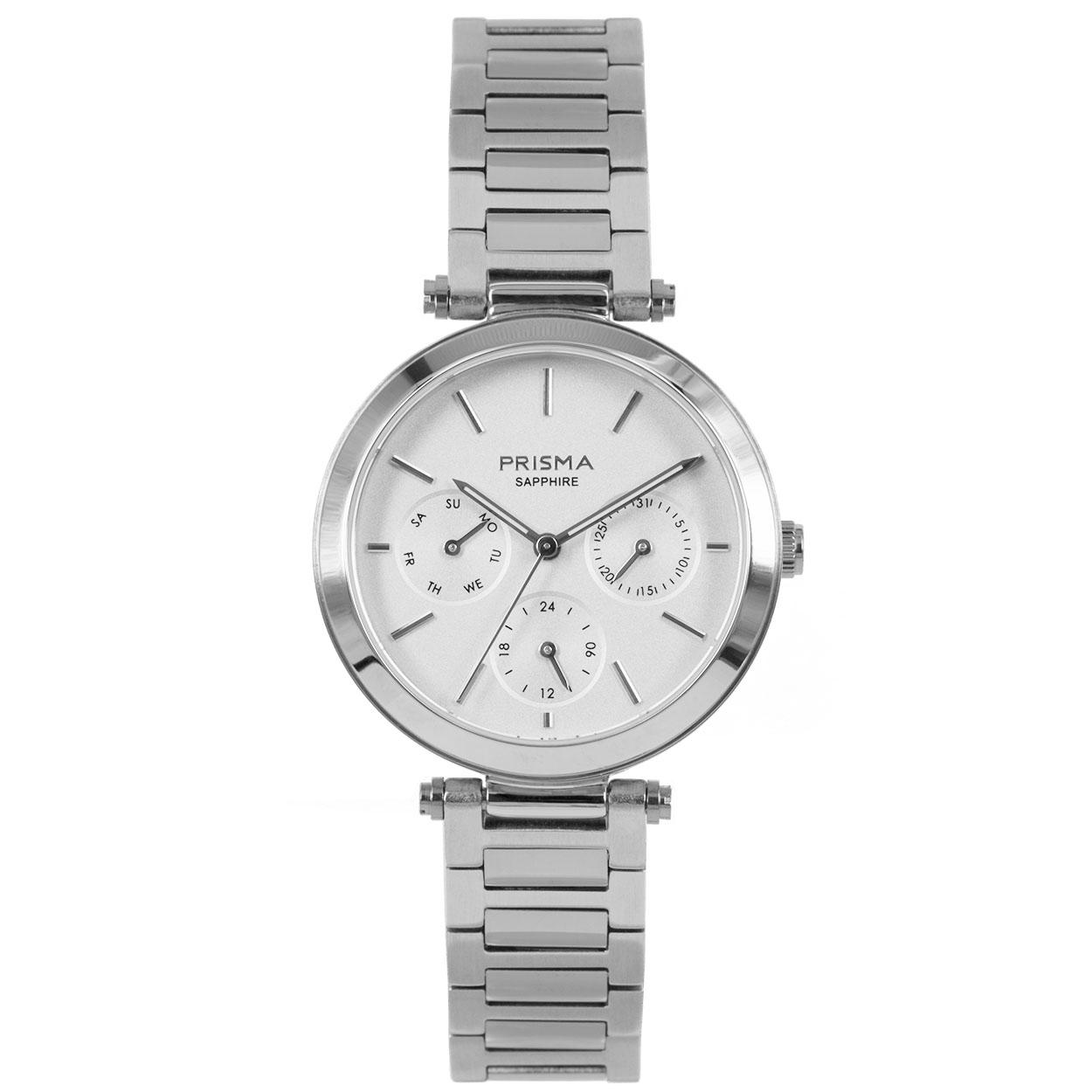 Prisma P.1340 Horloge Multifunctie staal zilverkleurig 32 mm