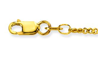 Glow Gouden Ketting Gourmet 42 cm 1.7 mm breed 201.0542.44