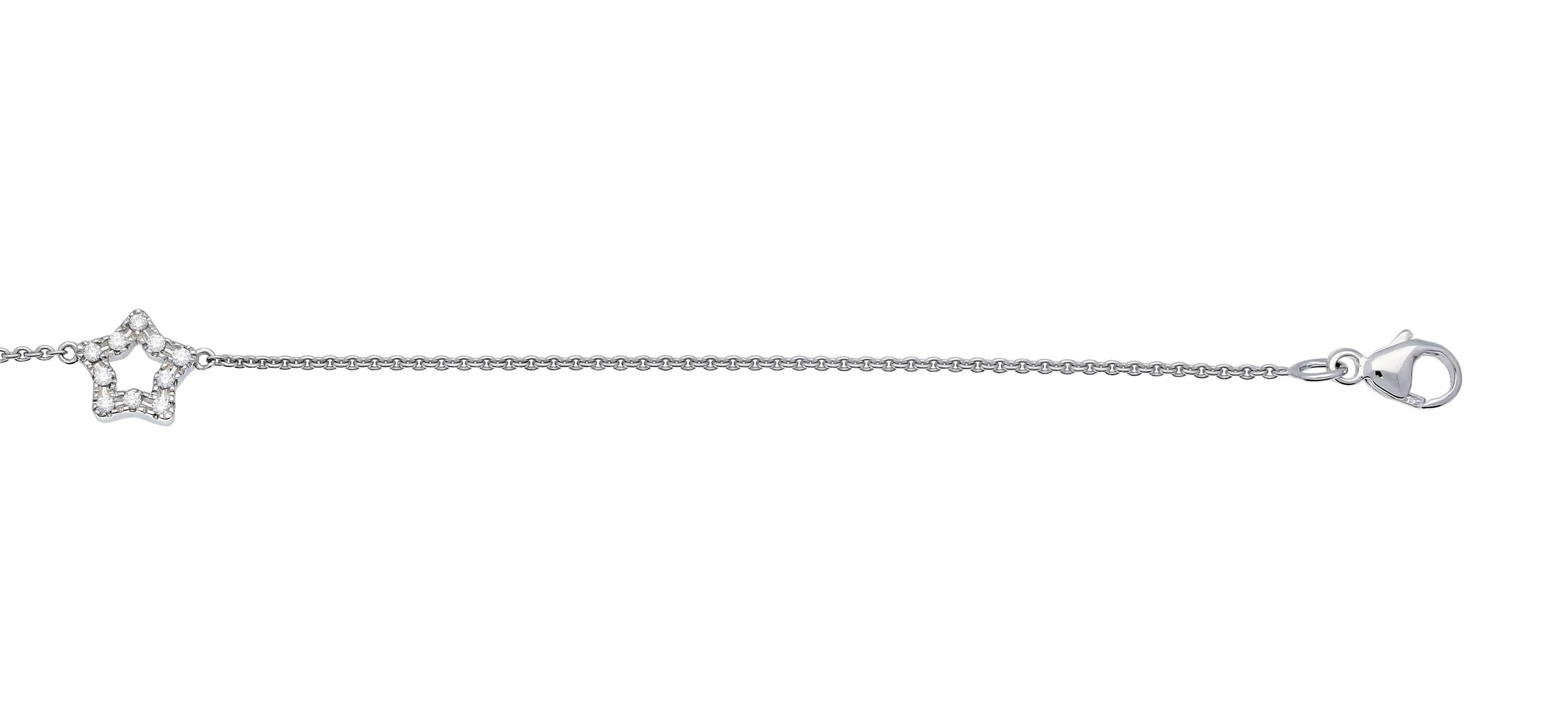 Glow Witgouden Armband 18.5 cm 'Ster' Diamant 0.08ct. 204.3015.18