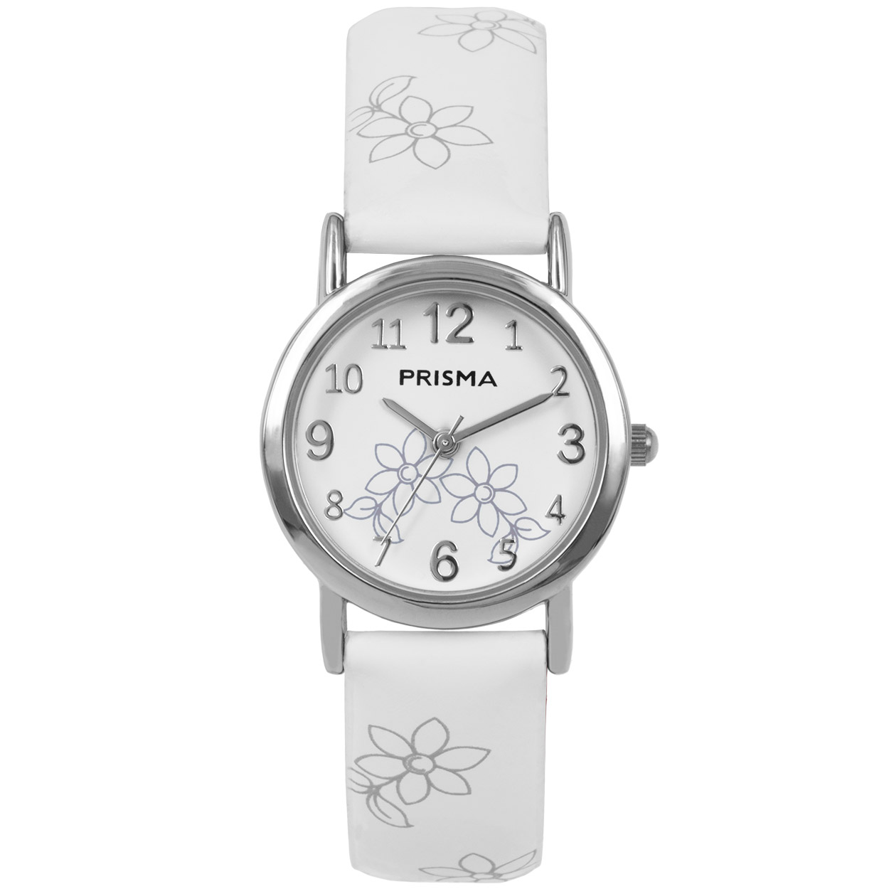 Coolwatch by Prisma CW.361 Kinderhorloge Lily staal/leder wit 26 mm
