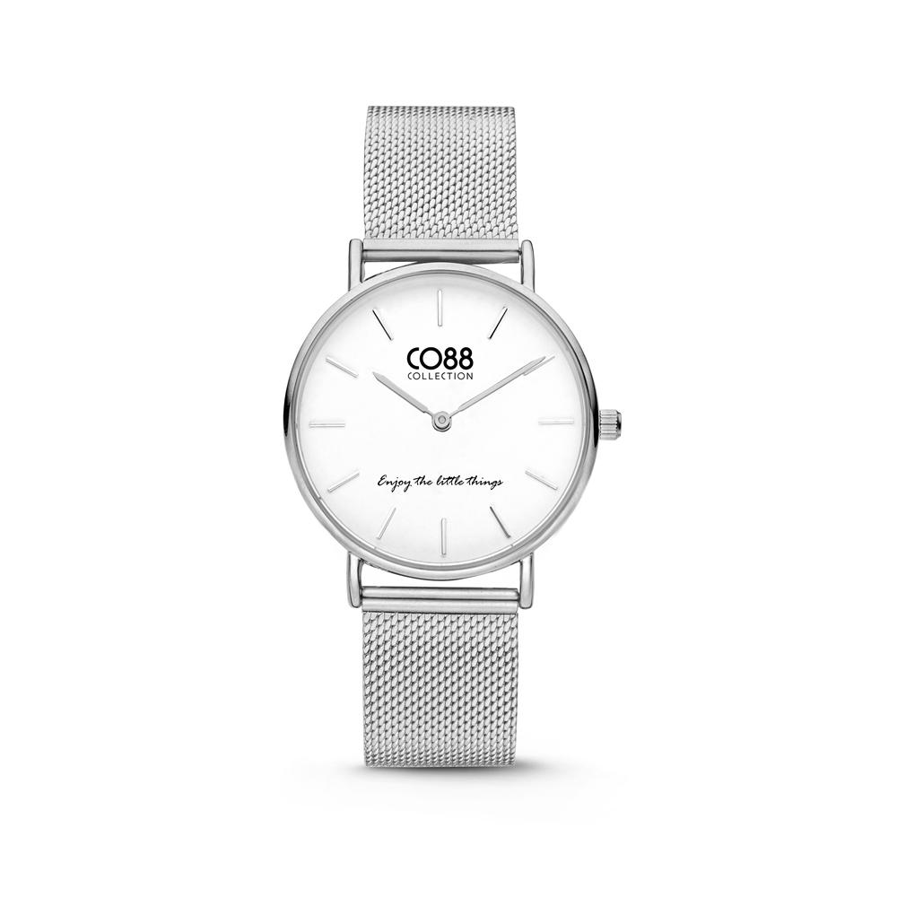 CO88 Collection 8CW 10076 Horloge - Mesh Band - Ø 32 mm - Zilverkleurig