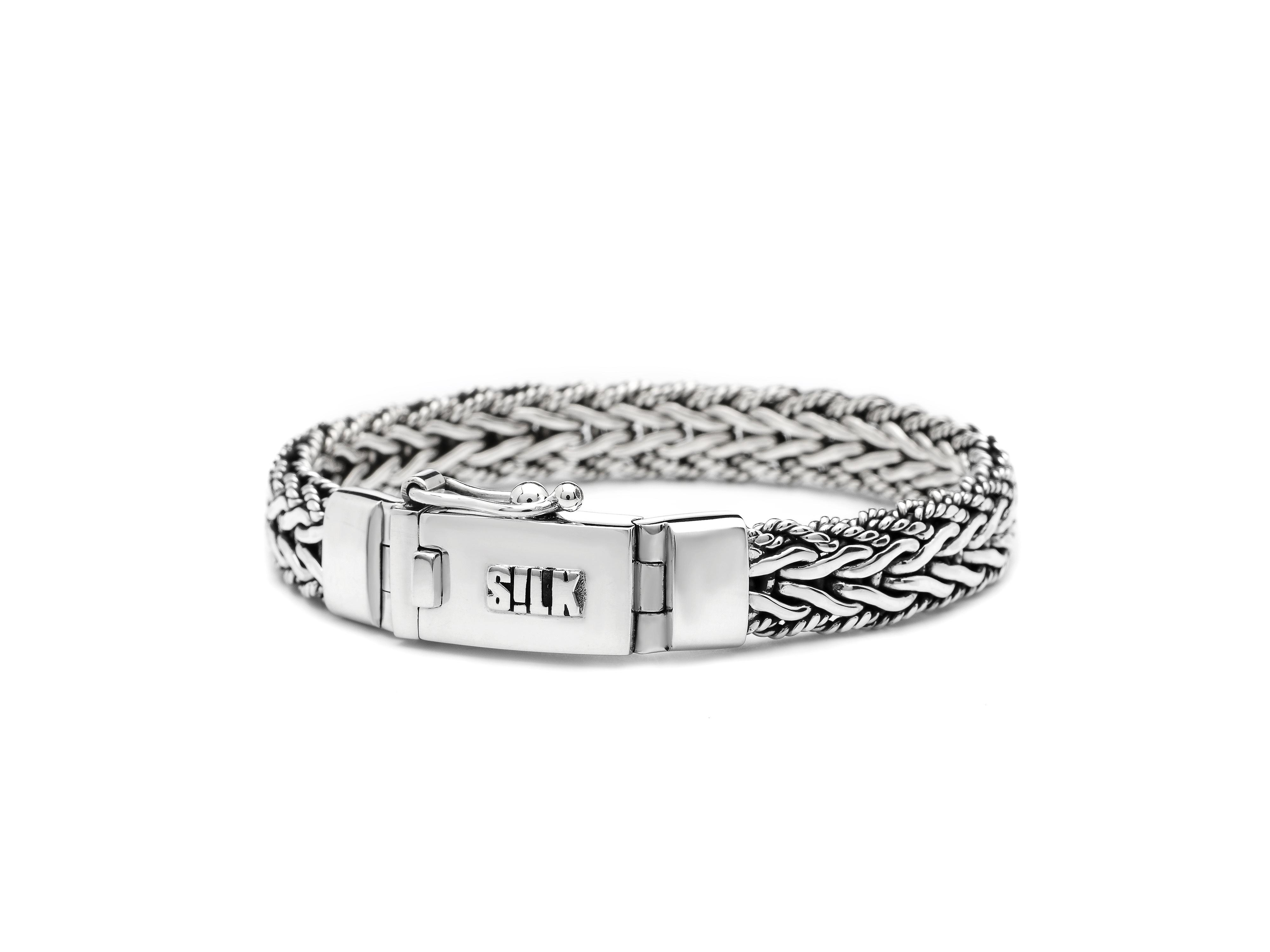 SILK Jewellery Armband zilver 'Ganesha' 19 cm 237