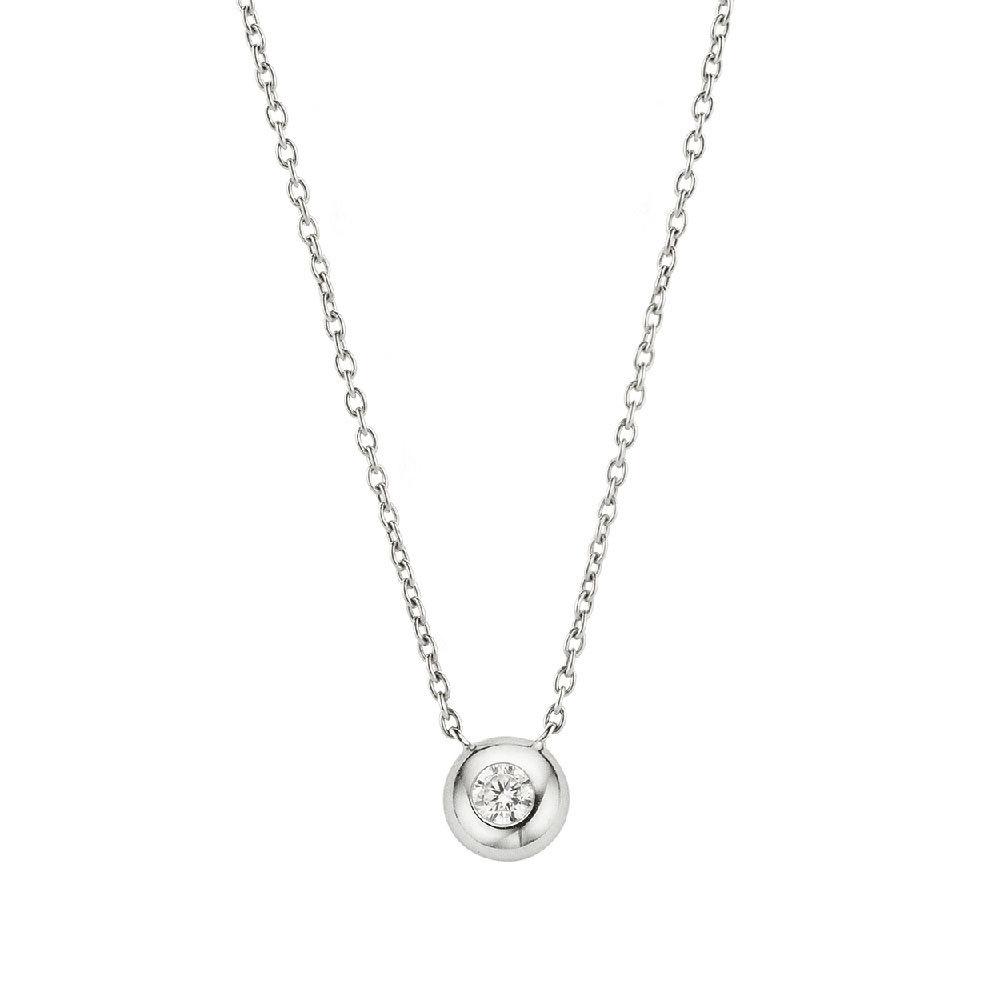 Ti Sento 3886ZI zilveren collier met zirkonia hanger