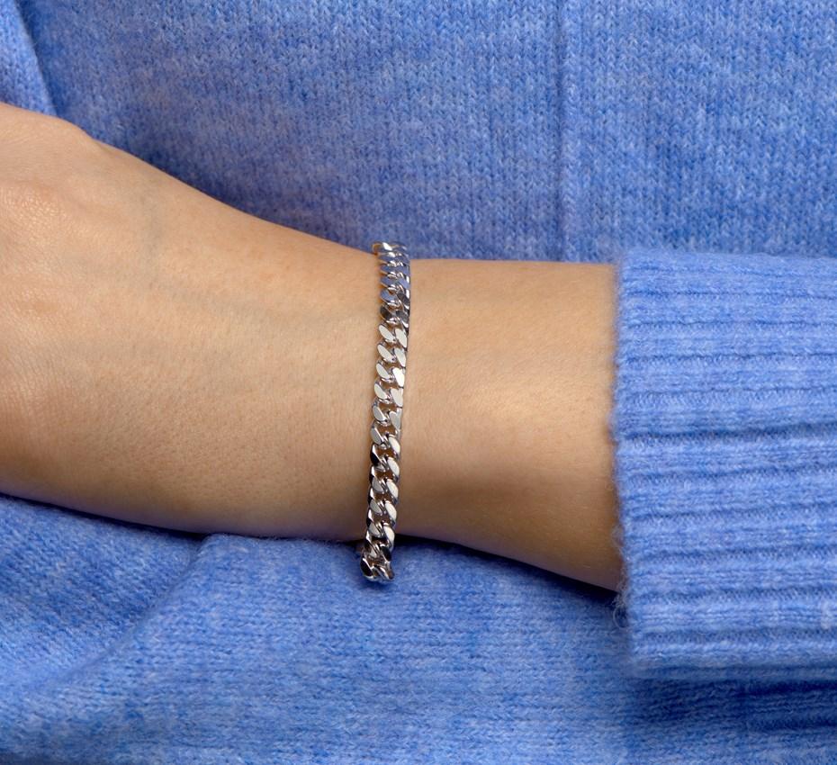 TFT Armband Zilver Geslepen Gourmet 5,6 mm 19 cm