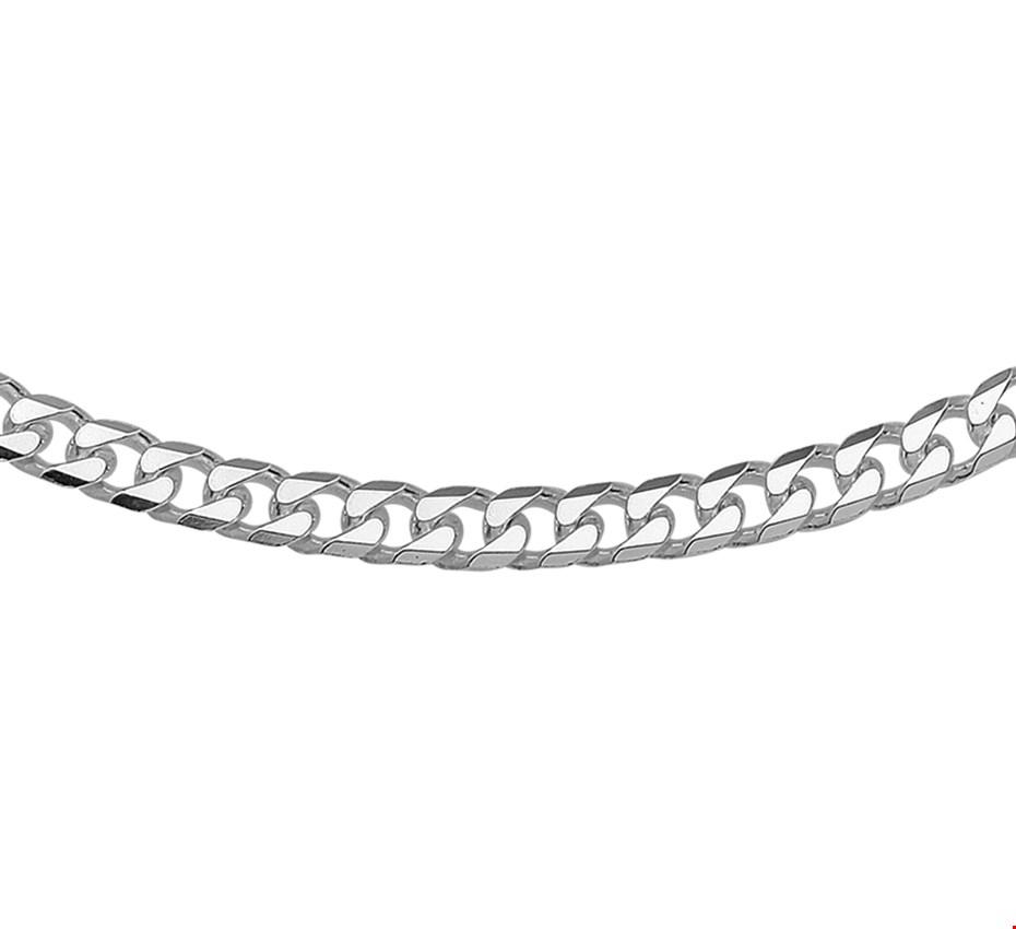 TFT Zilveren Ketting Geslepen Gourmet 5,0 mm x 45 cm.