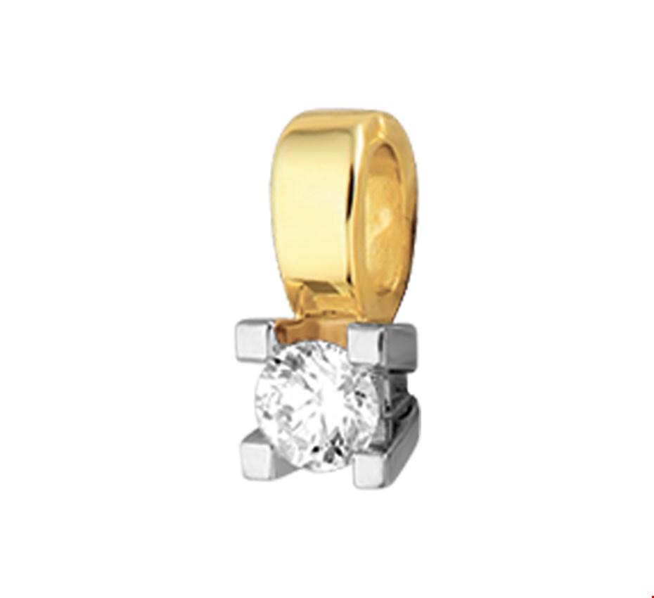 TFT Hanger Bicolor Goud Diamant 0.25ct H SI