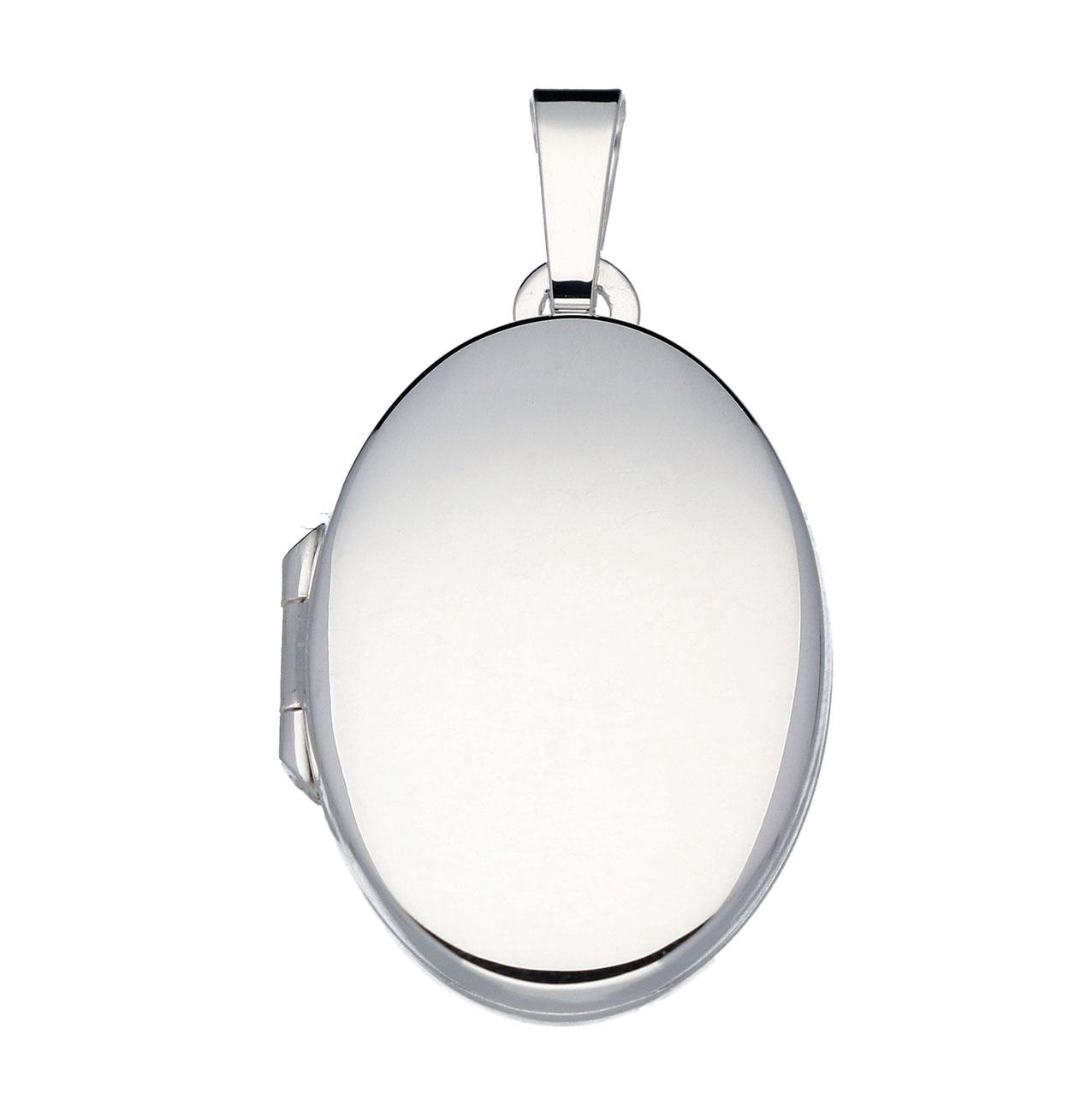 Zilveren Medaillon Ovaal - Glad 17 mm 145.0011.00