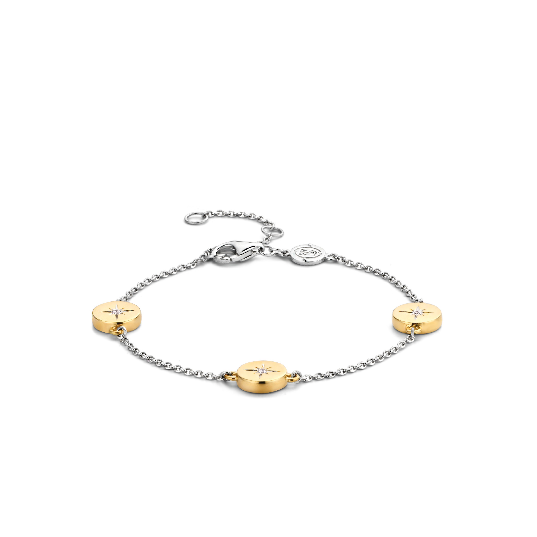 TI SENTO Milano Armband 2941ZY Zilver gold plated 16-20 cm