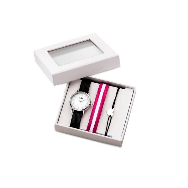 Colori CLK096 Cadeauset Kinderhorloge met Hart Armband en horlogeband 26 mm