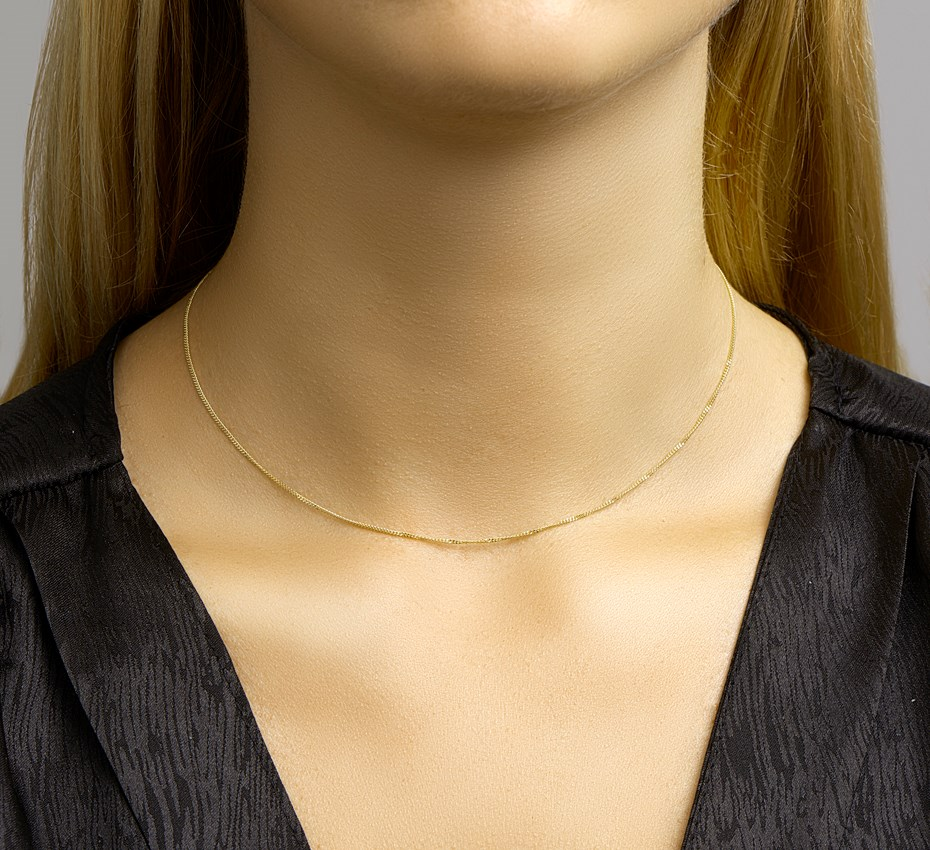 TFT Collier Geelgoud Gourmet 1,0 mm 36 4 cm