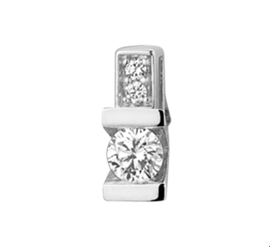 TFT Hanger Witgoud Diamant 0.16 Ct.