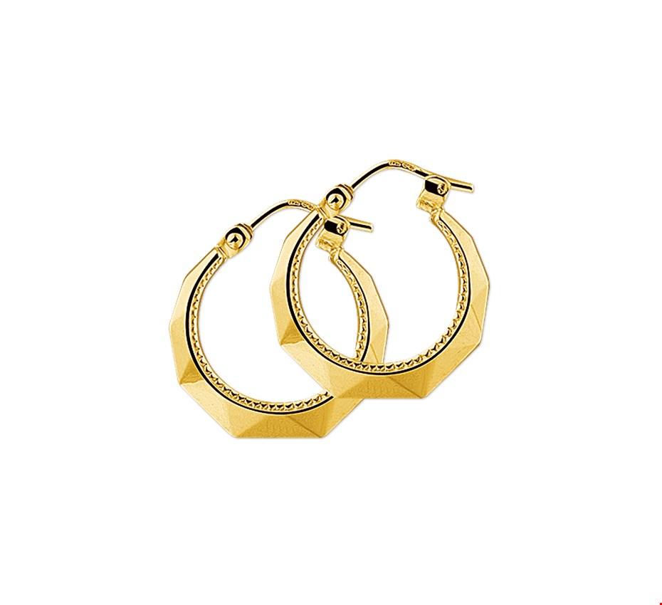 The Jewelry Collection Creolen Lapide - Geelgoud (14 Krt.)