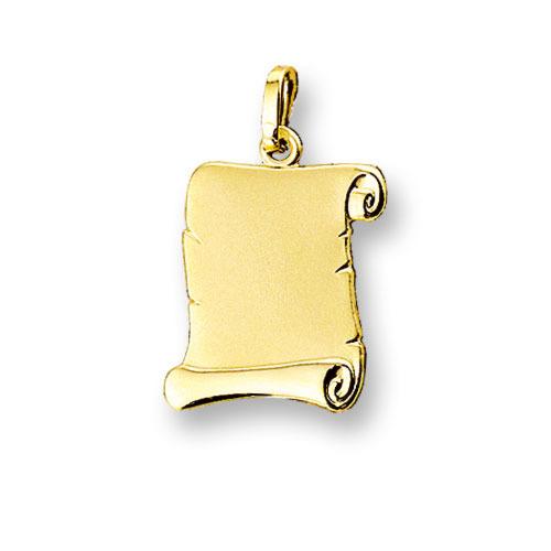 Huiscollectie 4006602 Gouden graveerplaat perkament rol