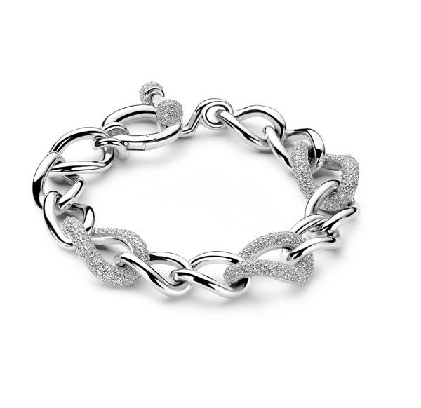 Ti Sento Milano 2441ZI Armband met zirconia zilver 19 cm