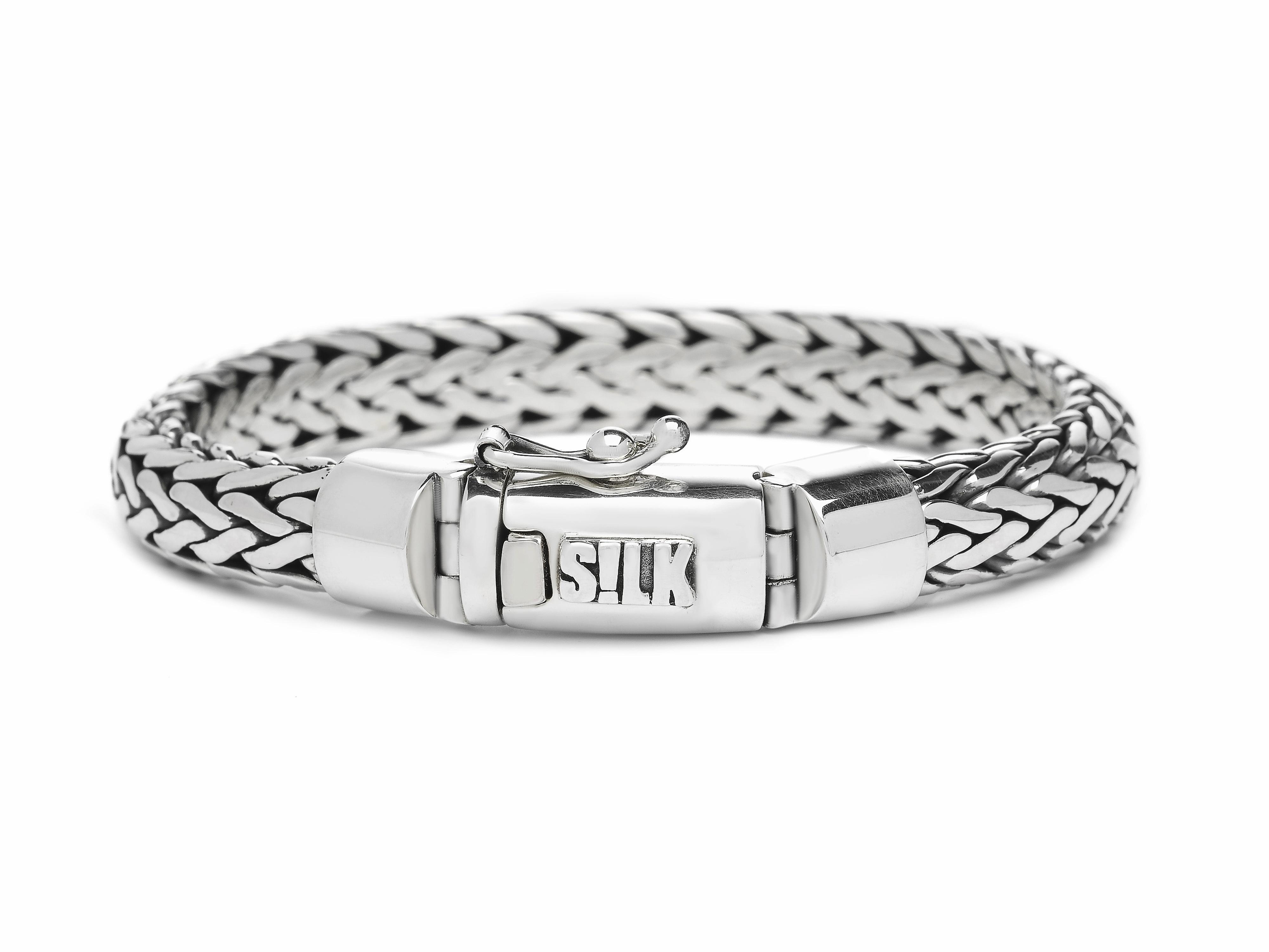 Silk Jewellery Armband zilver 'Shiva' 21 cm 303-21