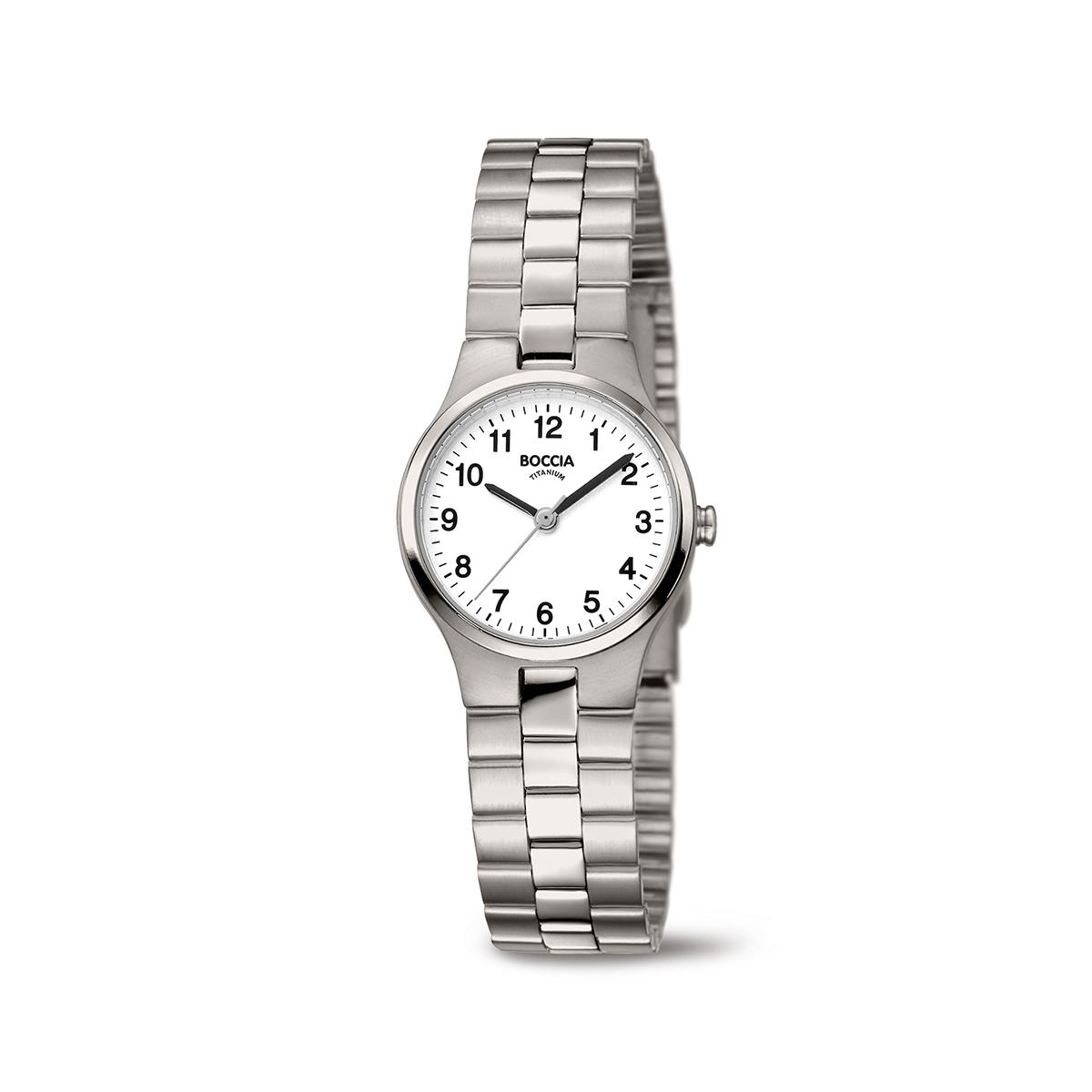 Boccia Titanium 3082.06 horloge Titanium Zilverkleurig 25 mm