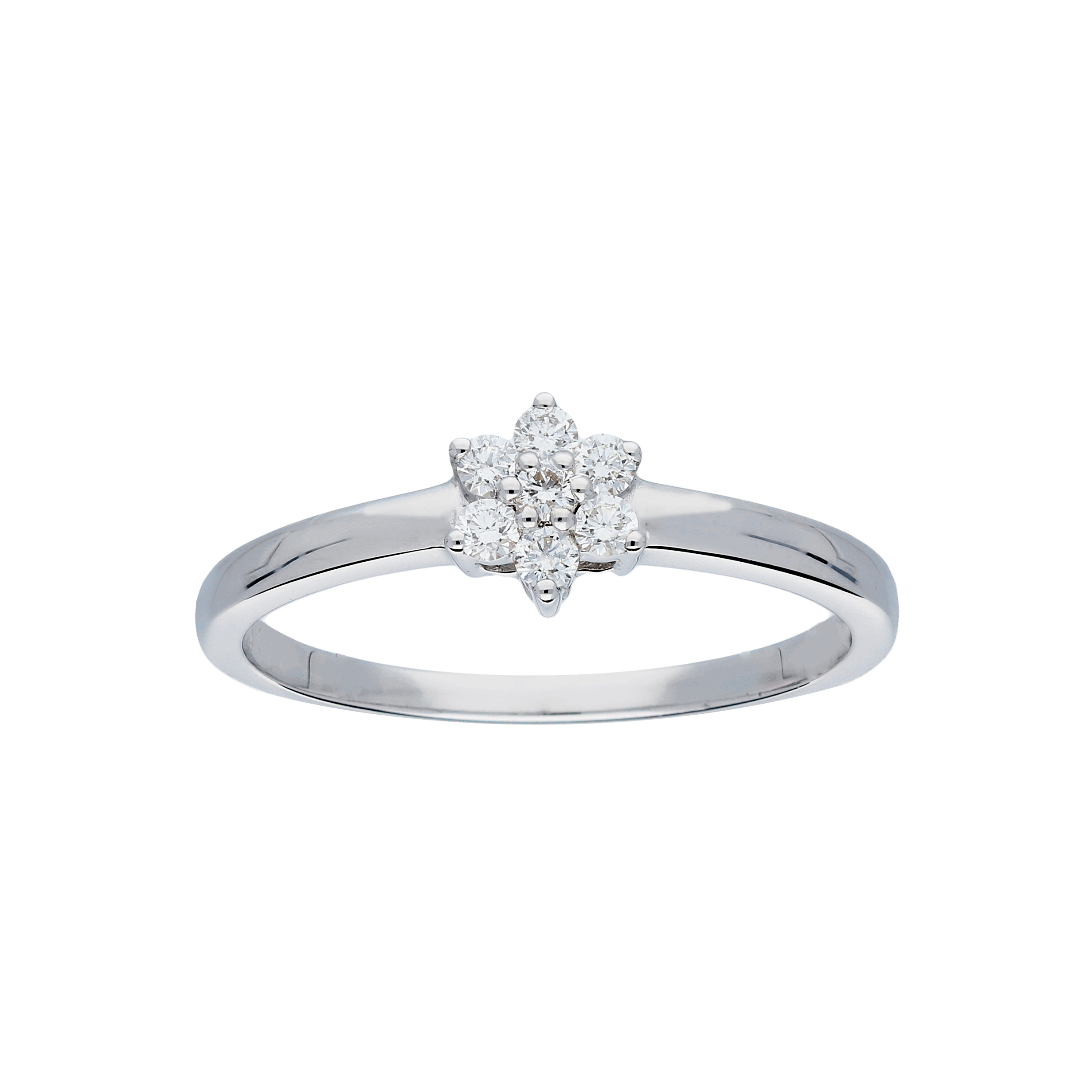 Glow Witgouden Ring Glanzend Diamant 7 0.145ct G si 214.3024.50