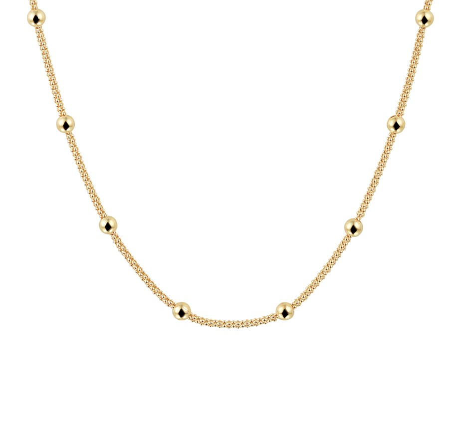 TFT Collier Geelgoud Bolletjes 3,0 mm 40 4 cm 1 Micron