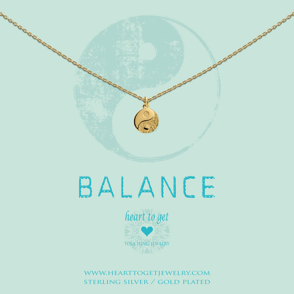 Heart to get N257CYY15G Ketting You are the Yin to.... zilver goudkleurig