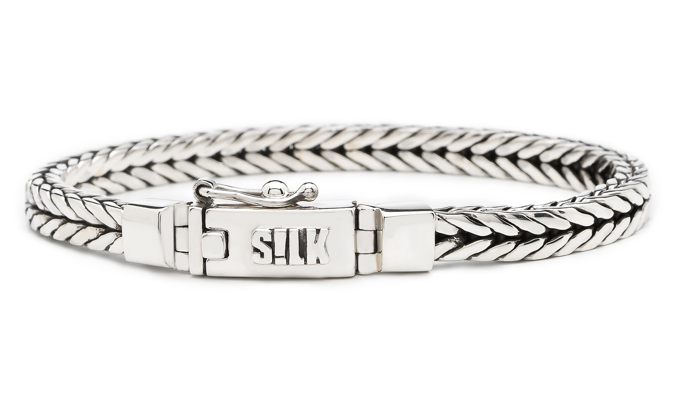 SILK Jewellery Armband zilver 'Shiva' 19 cm 312